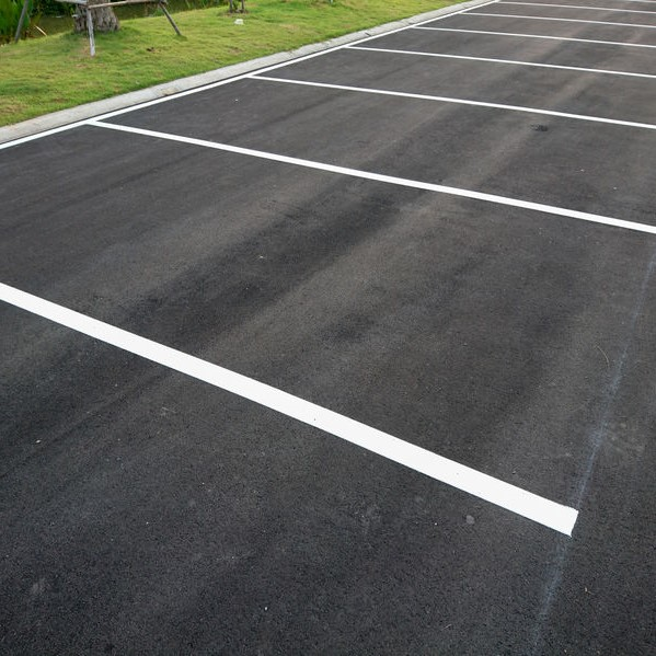 parking lot freshly poured