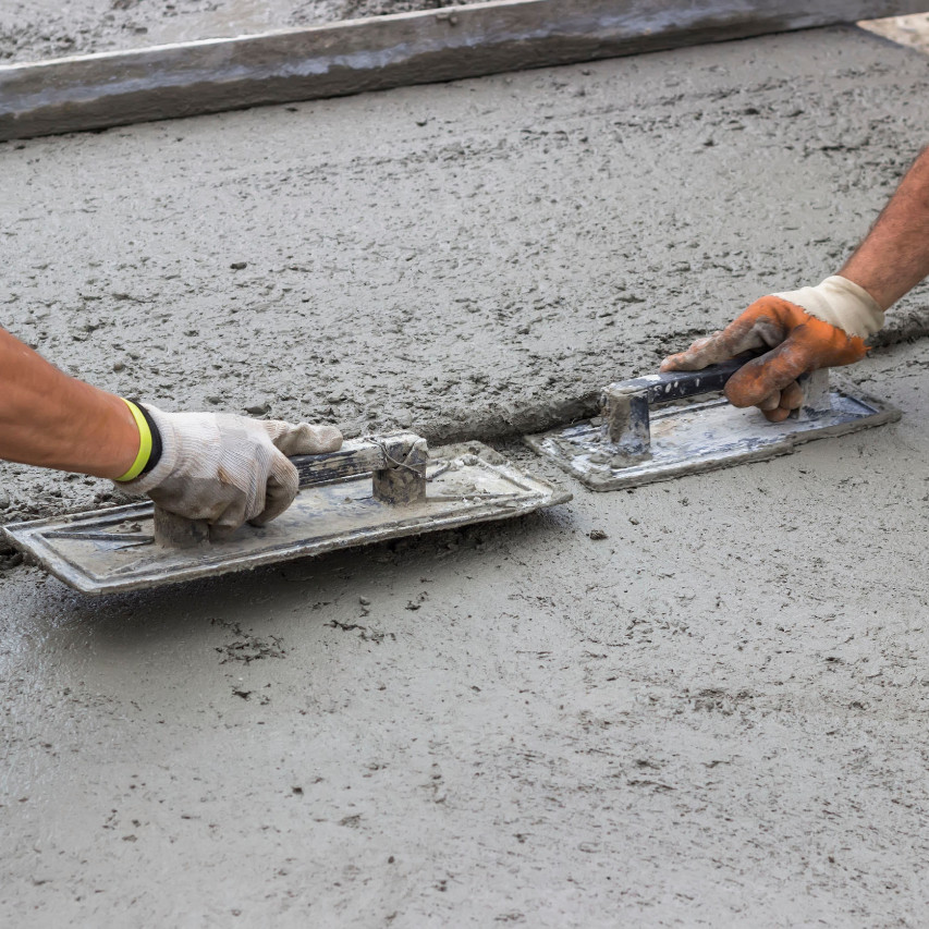 flattening cement
