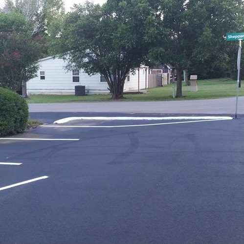 A Picture of a Clean Parking Lot.