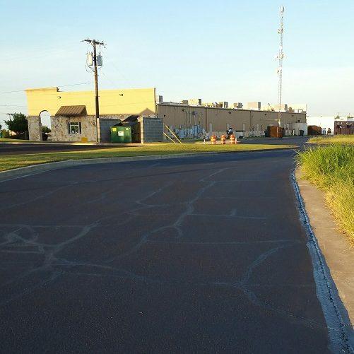A Picture of Crack Repair for Asphalt Road.