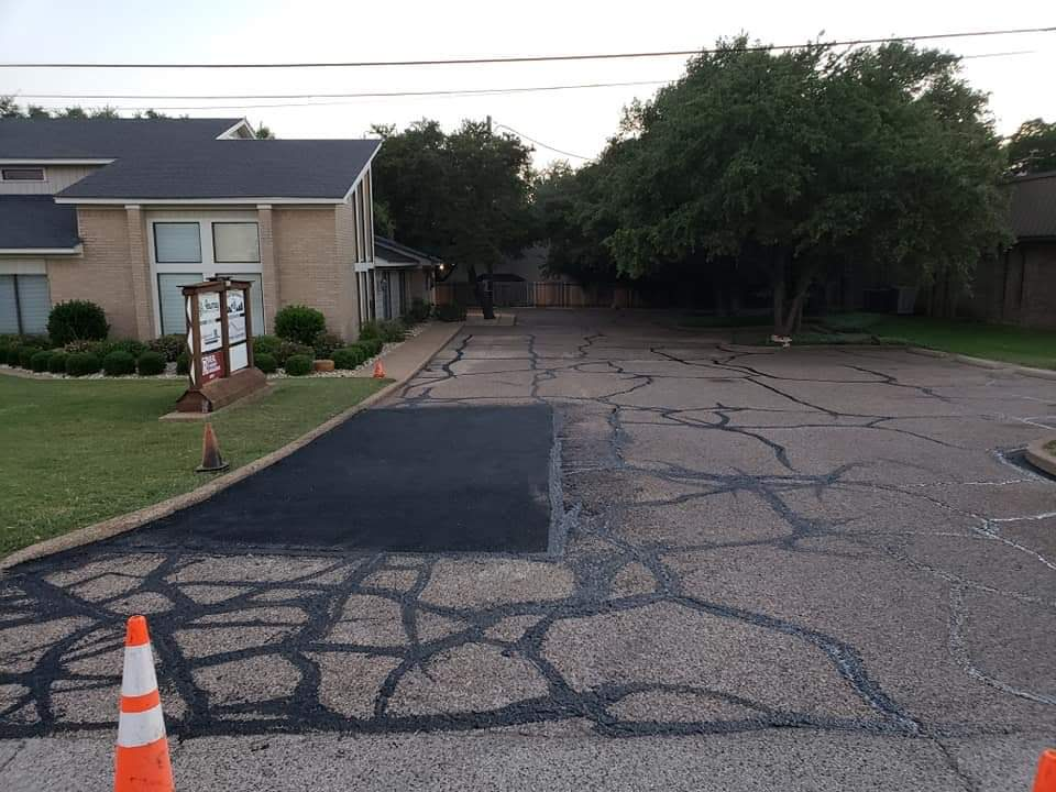 Crack Sealed Pavement