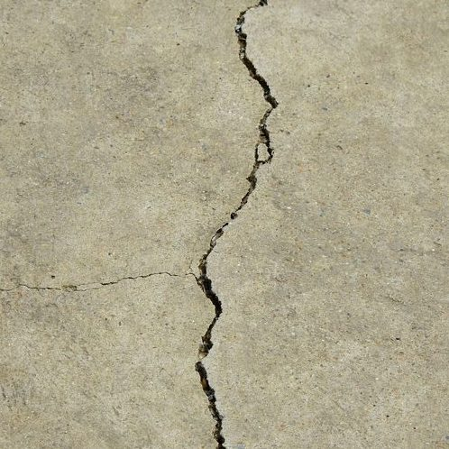 A Picture of Cracked Concrete.