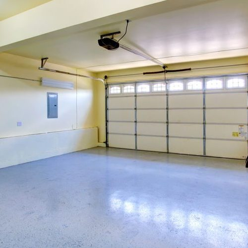 A Picture of an Empty Garage.
