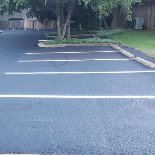 A Picture of an Empty Parking Lot.
