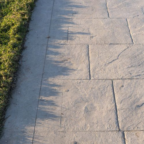 A Picture of a Stamped Concrete Pavement.
