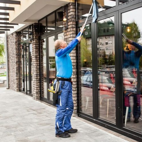 A Picture of a Window Washer.