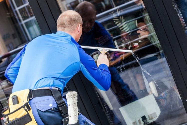 Window Washing Commercial Door Exterior